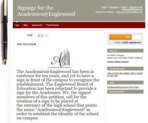 Academies @ Englewood Sign Petition