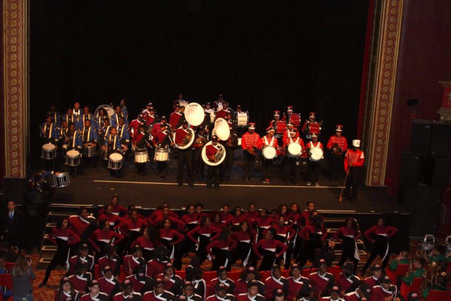 DMAE Marching Band Booms at Blowout