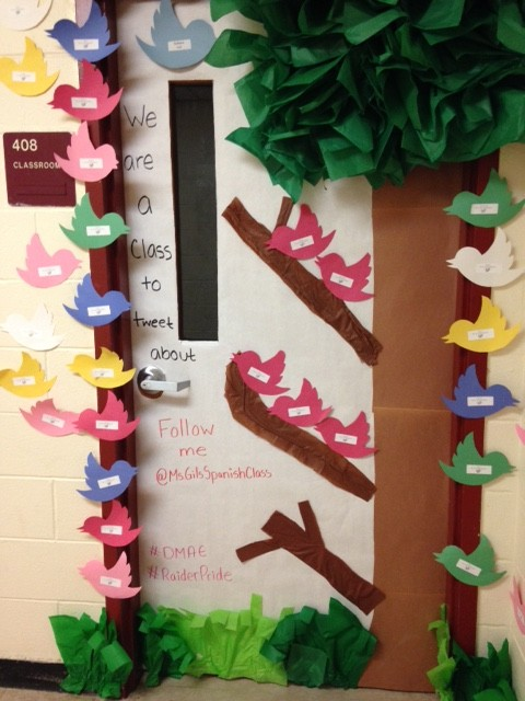 Raider Pride Shines Through DMAE Door: Door Decorating Contest A Hit