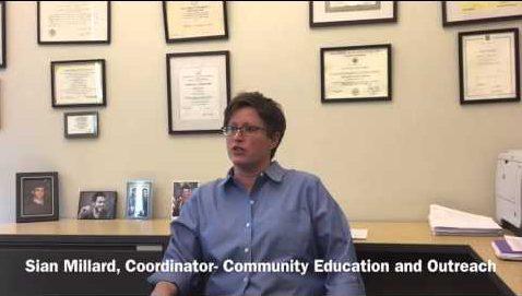 Sian Millard, Coordinator of Community Education and Outreach