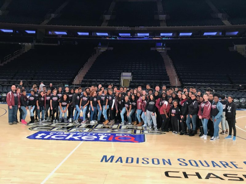DMAE Marching Band at Madison Square Garden.