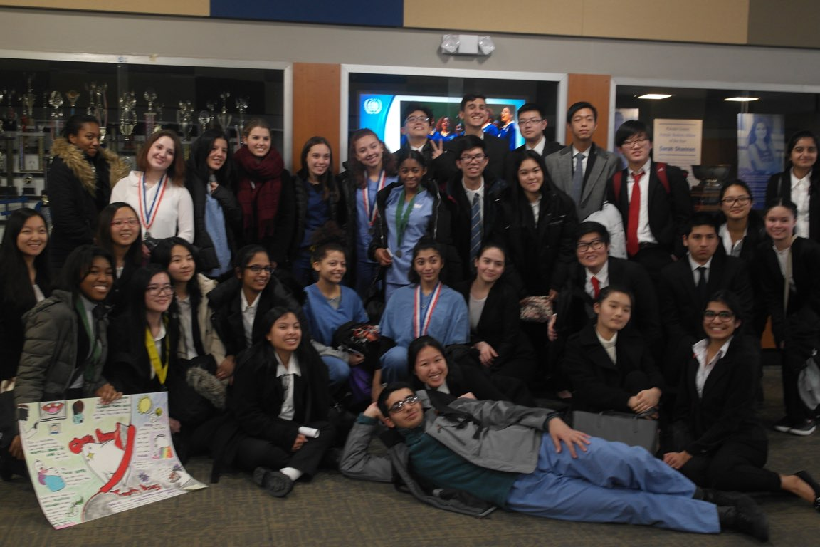 DMAE HOSA members pose after a successful regional competition