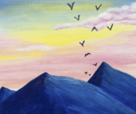 Senior Paint Night Raised Money and Lowered Stress