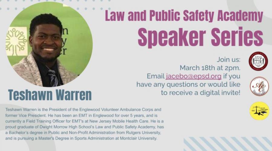 Dwight Morrow Alum Visits LPS Speaker Series